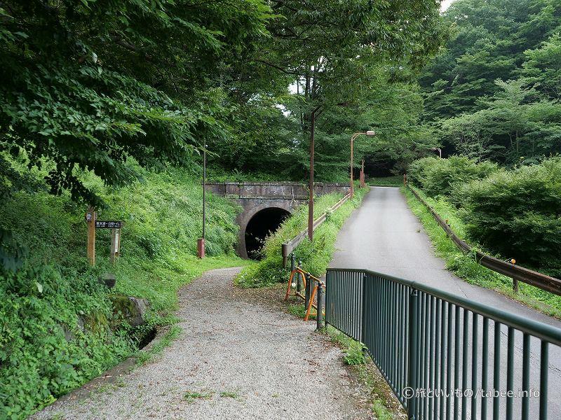 第2トンネルと国道への道