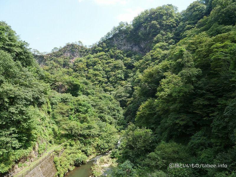 下流側の景色