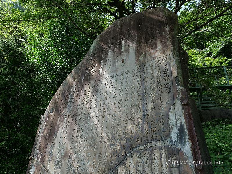 碓日嶺鉄道碑(うすひみねてつどうひ)