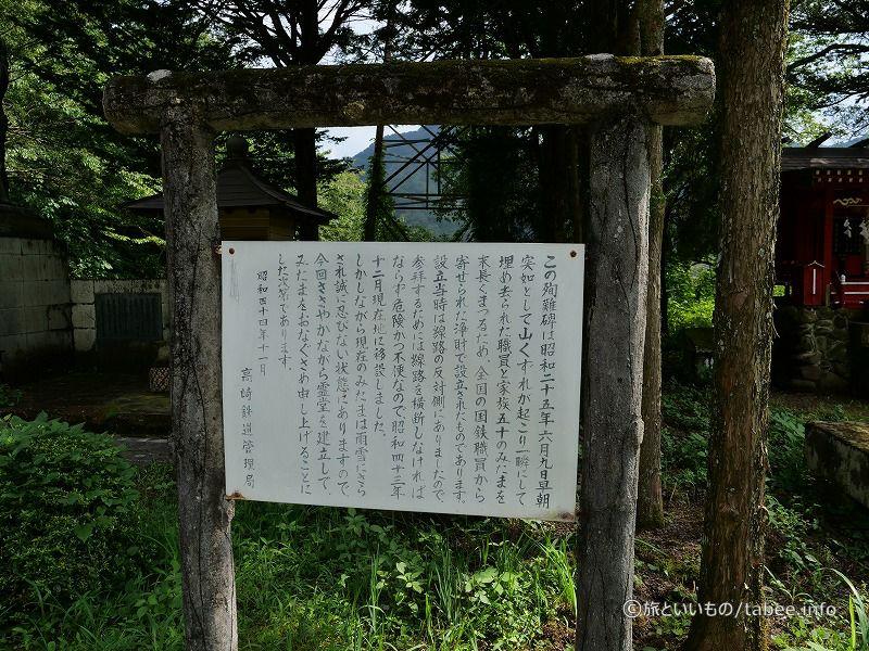 殉難碑の説明文