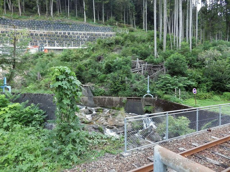 神岡大橋駅ホームからの眺め