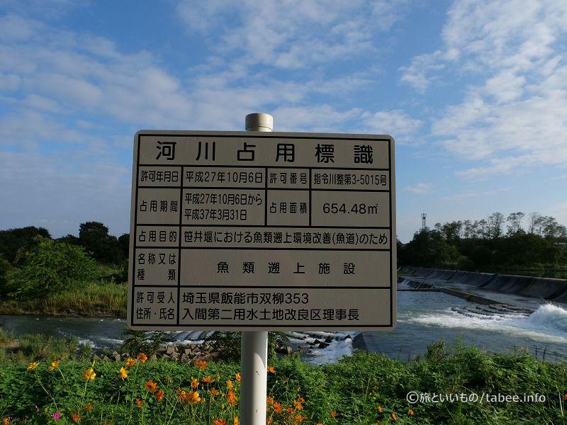 河川占用標識