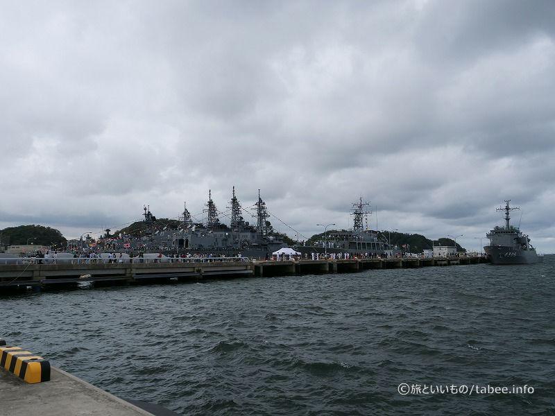 護衛艦がたくさんいます