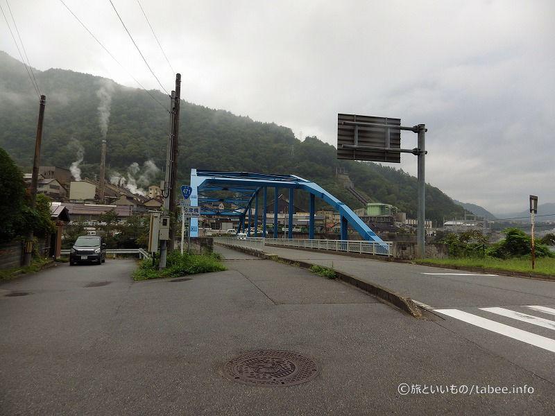 船津橋から見た神岡鉱業