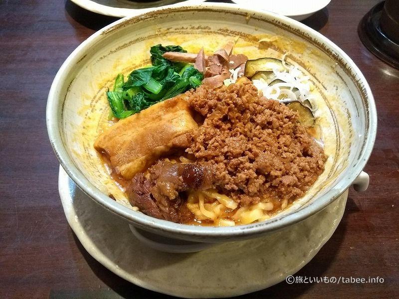 tanuは限定メニューの担々麺