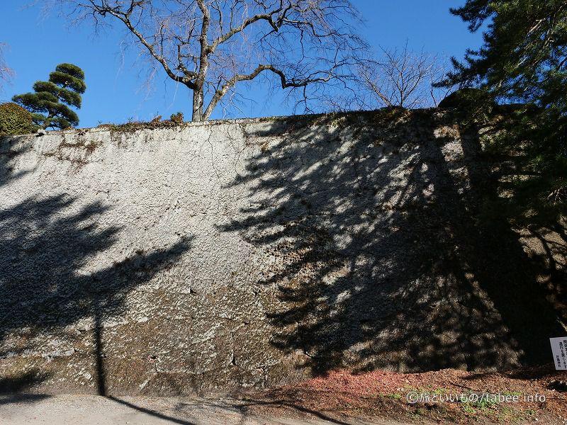 まるで一面の壁のような石垣