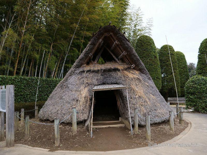 縄文式住居入口