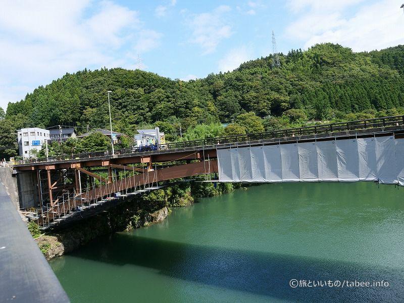 工事中の新笹津橋