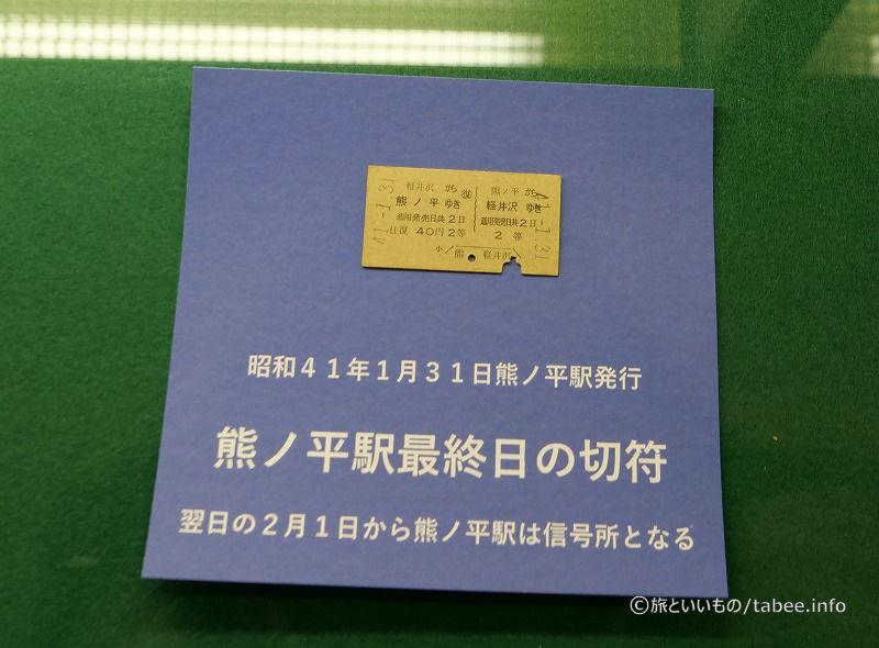 熊ノ平駅最終日の切符