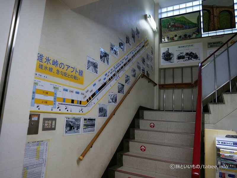 階段の壁も展示であふれてます