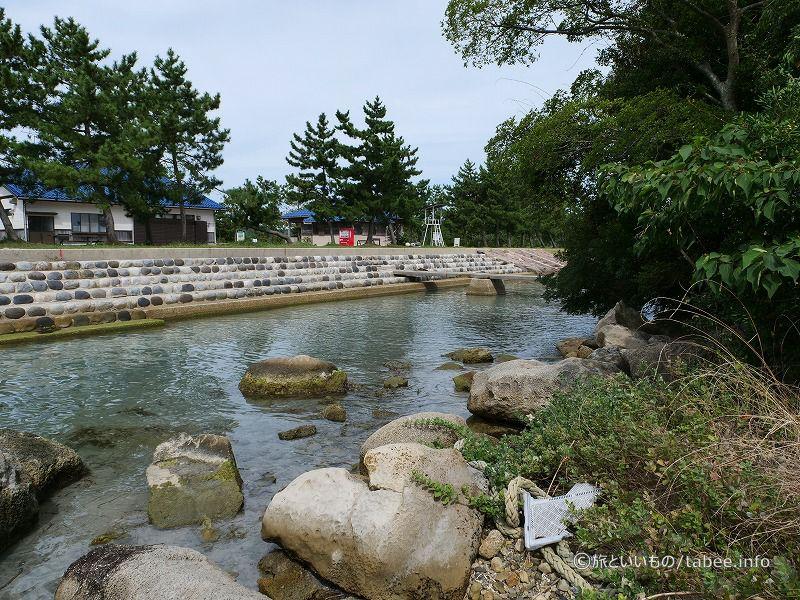 松島から見たオートキャンプ場