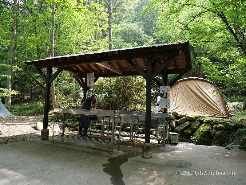 キャンプ場水場
