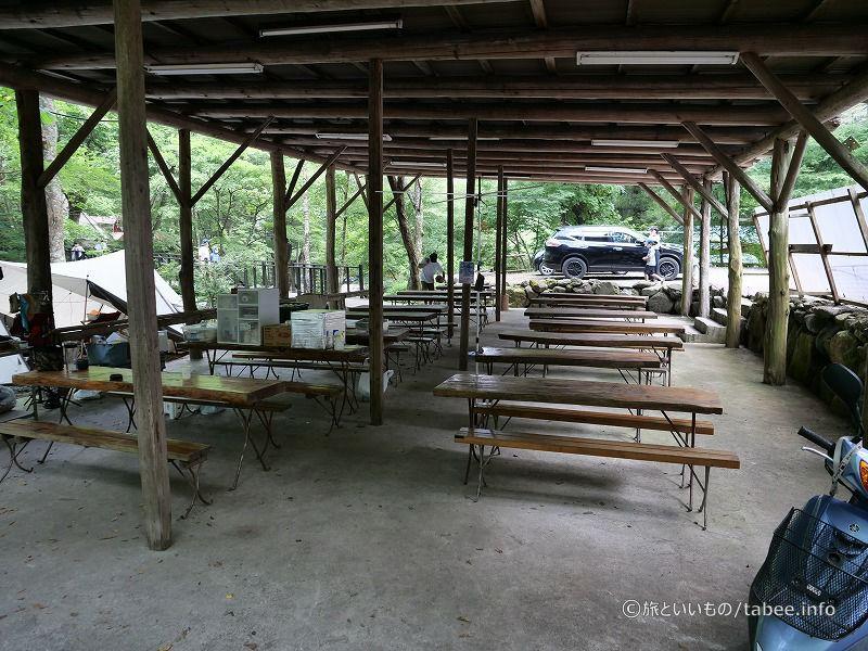 野外食堂も何カ所かあります