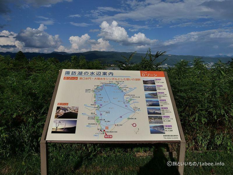 諏訪湖周辺案内図
