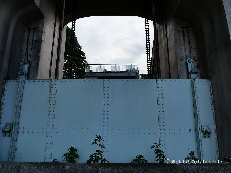 旧釜口水門のゲート