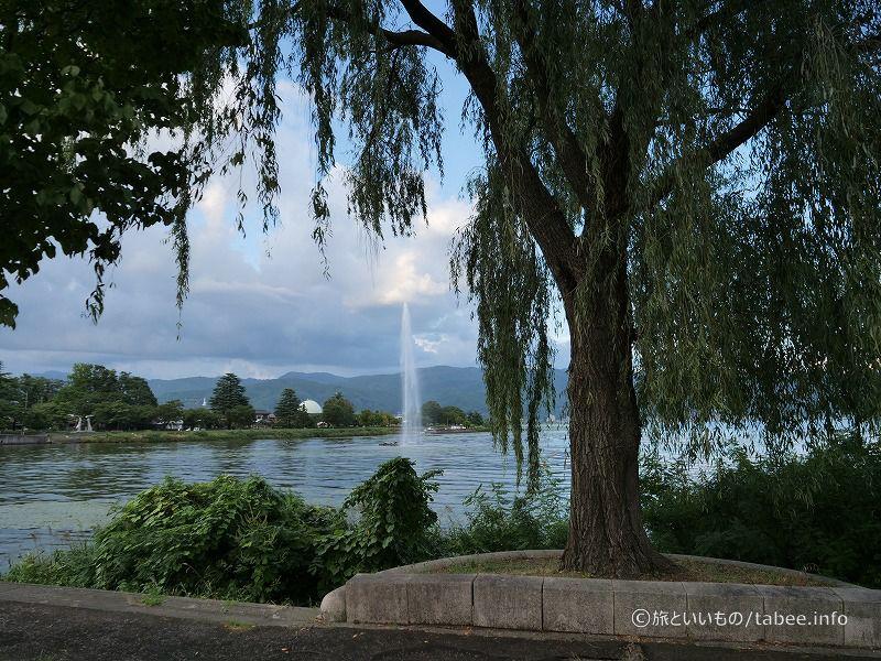 琵琶湖の噴水