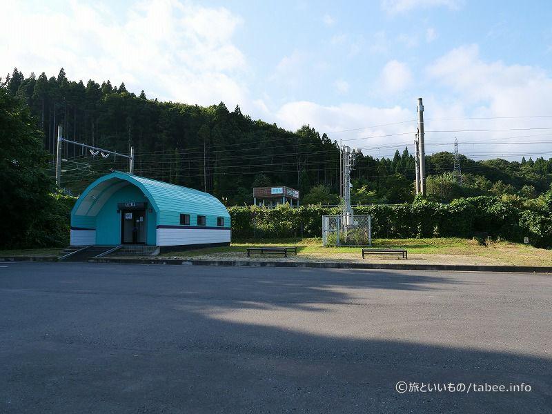 青函トンネル入り口広場の公衆トイレ